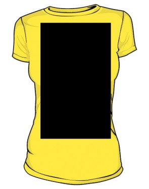 Place 2 Go T Shirt Damska Yellow