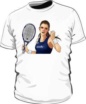 Koszulka z podobizną A Radwańskiej