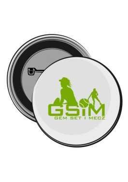 Przypinka z logo GSiM