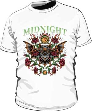 t shirt midnight biały męski