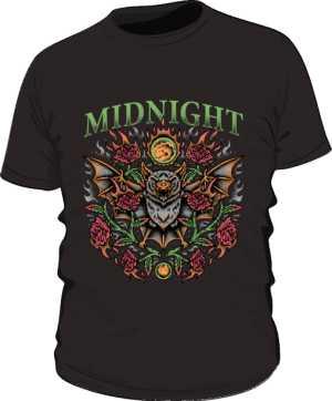 t shirt midnight czarny męski
