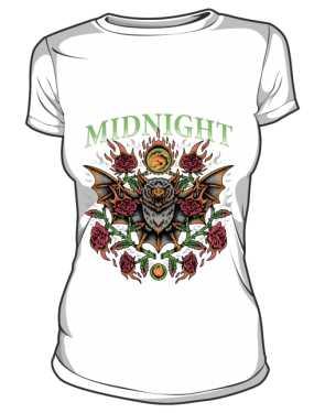 t shirt midnight biały damski
