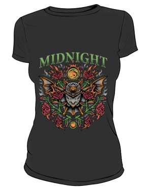t shirt midnight czarny damski