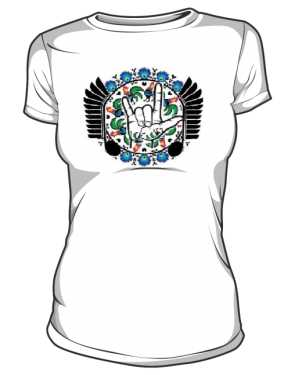 Damska koszulka z logo PMKTNUWRAP