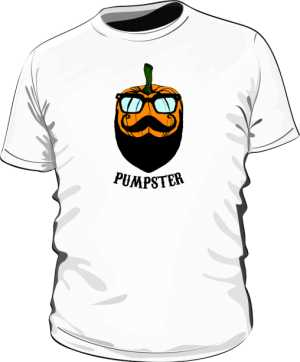 Pumpster Hipster Koszulka Na Halloween