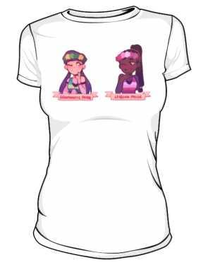 Biała koszulka LGBT damska