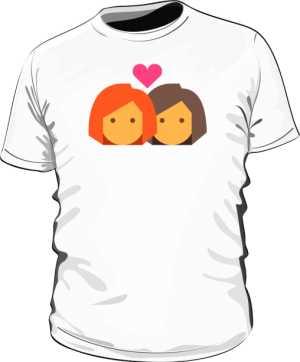 Biała koszulka LGBT męska lesbijki