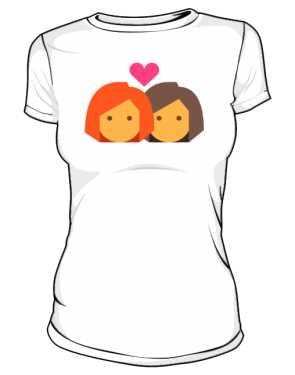 Biała koszulka LGBT damska lesbijki