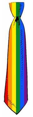 Krawat flaga LGBT