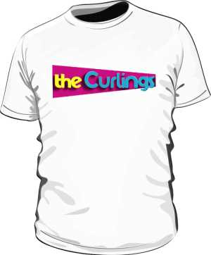 iCurlings white tee