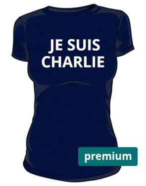 Je suis Charlie women blue