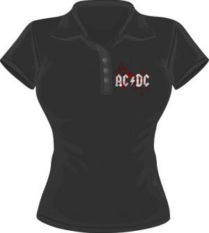 Polo damskie ACDC LOGO