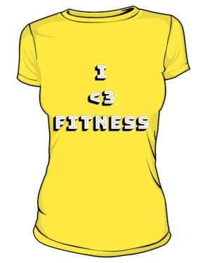 Damska koszulka I LOVE FITNESS