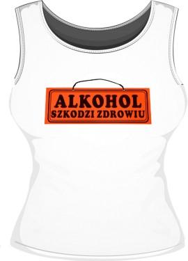 Bokserka damska Alkohol szkodzi
