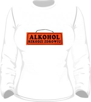 Longsleeve damski Alkohol szkodzi