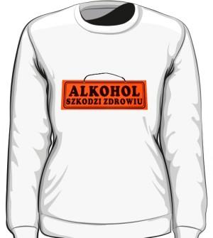Biała bluza damska Alkohol szkodzi