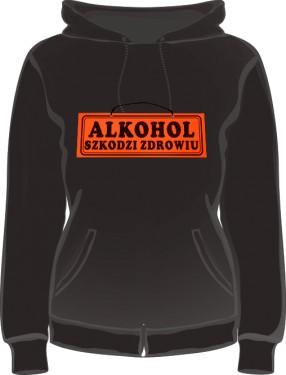 Czarna bluza damska Alkohol szkodzi