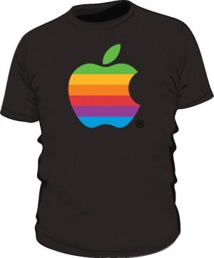 Koszulka czarna Apple color