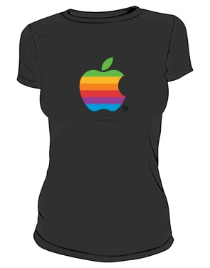 Koszulka damska Apple color