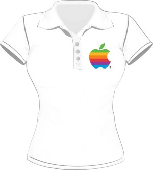 Polo damskie Apple color