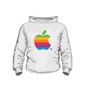 Bluza dziecięca z kapturem Apple color