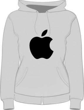 Bluza damska z kapturem Apple