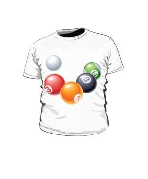 Koszulka kulki bilardowe