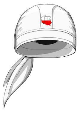 Chusta z logo NSP