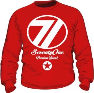 Bluza 71 Premium  Crewneck Red