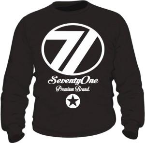 Bluza 71 Premium Crewneck Black