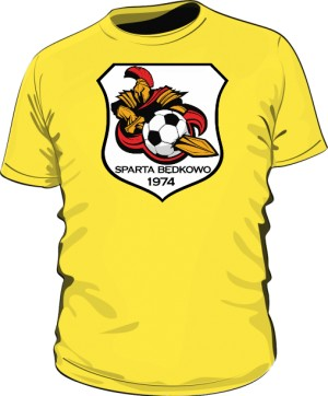 Koszulka logo SPARTA Będkowo żółta