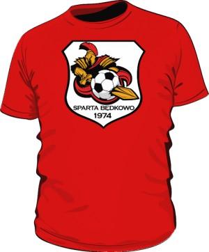 Koszulka logo SPARTA Będkowo czerwona