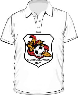 Polo logo SPARTA Będkowo biała