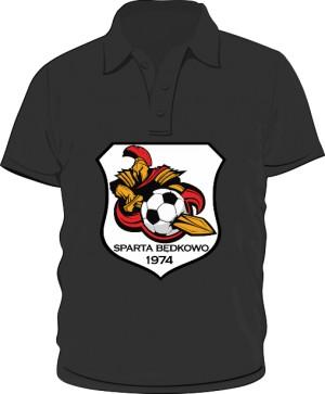 Polo logo SPARTA Będkowo czarna