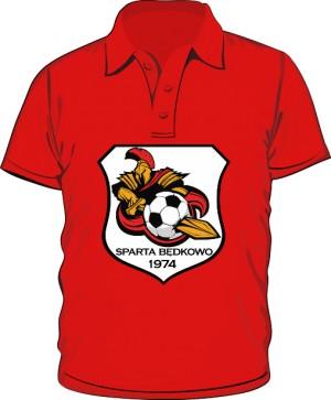 Polo logo SPARTA Będkowo czerwona