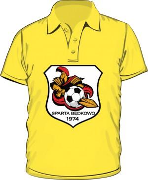 Polo logo SPARTA Będkowo żółta