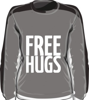 Free Hugs Blouse Girl