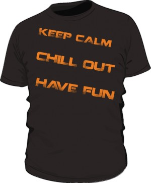 Keep calm text orange
