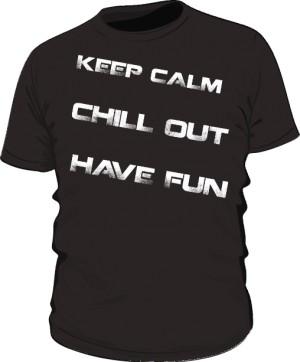 Keep calm text white