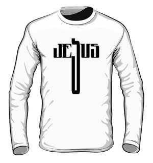Bluza bez kaptura JESUS biała męska