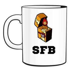 Kubek White Logo SFB