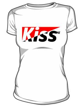 T shirt SLIM Kiss Me