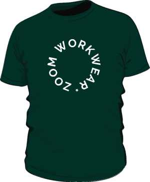 TEE FOREST GREEN BY ZOOM WORK WEAR