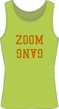 GANG SLEEVELEES TEE LIGHT GREEN BY ZOOM