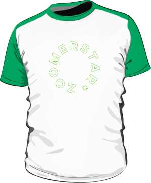 BASEBALL TEE GREEN BY ZOOM