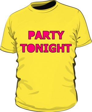 Party Tonight Shirt Man Yellow
