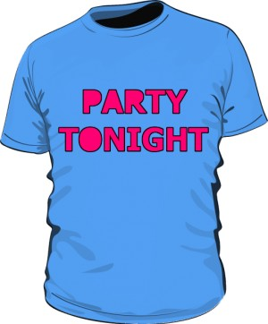 Party Tonight Shirt Man Blue
