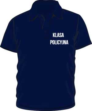 Koszulka Polo granatowa klasa policyjna