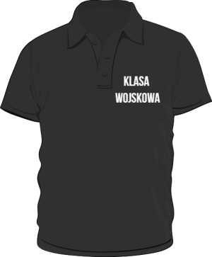 Koszulka Polo czarna klasa wojskowa
