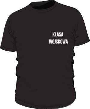 Koszulka czarna klasa wojskowa